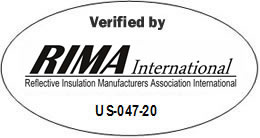 RIMA Verified Label - Radiant Barriers & Reflective Foil Insulation